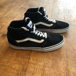 Black Vans Hightop Sneakers